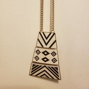 BoHo Tribal long chain necklace